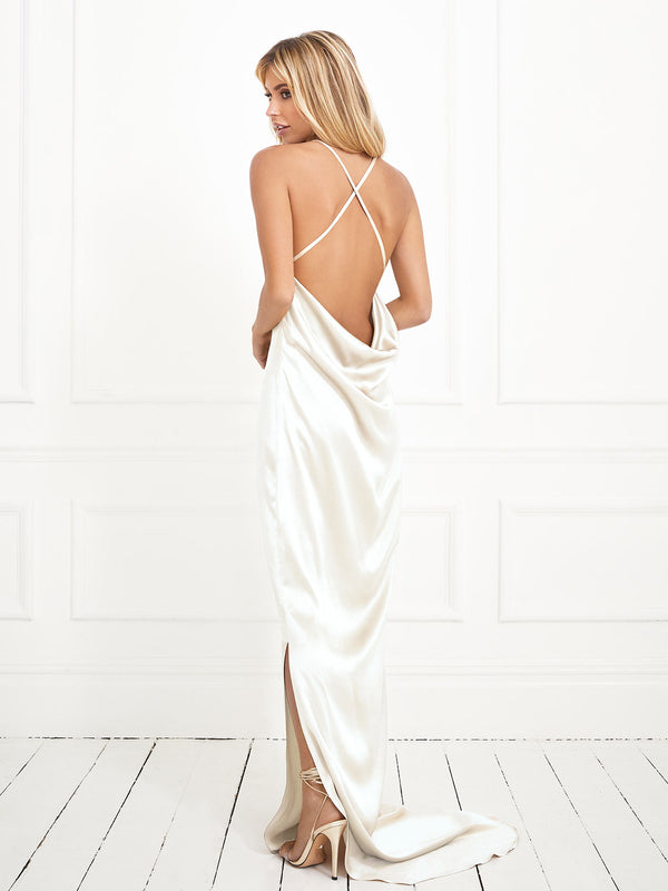 The Arabella wedding dress made from luxury heavyweight ivory silk