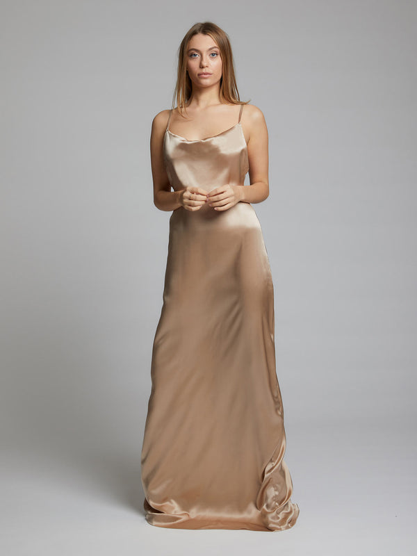 Champagne Silk Dress