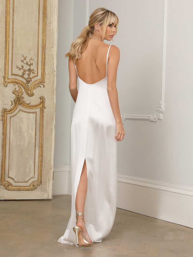 The Charlotte ivory silk dress