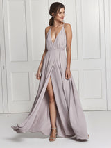 Lilac grey dress from London designer Constellation Ame