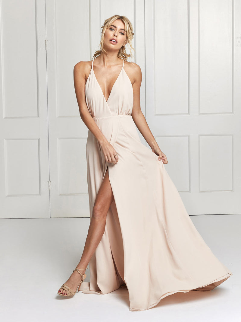 The Evelyn bridesmaid dress in nude colour
