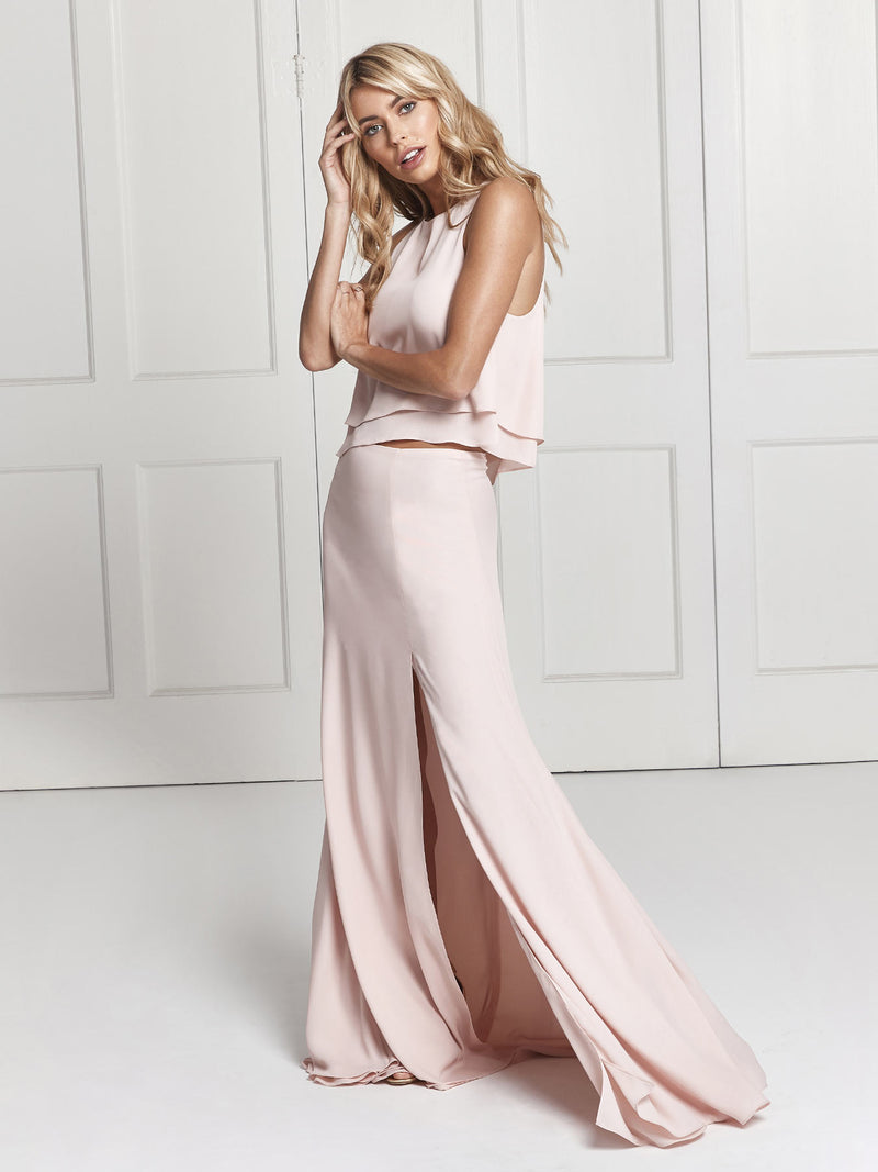 The Isla Two Piece Maxi Skirt and Top Bridesmaid Set