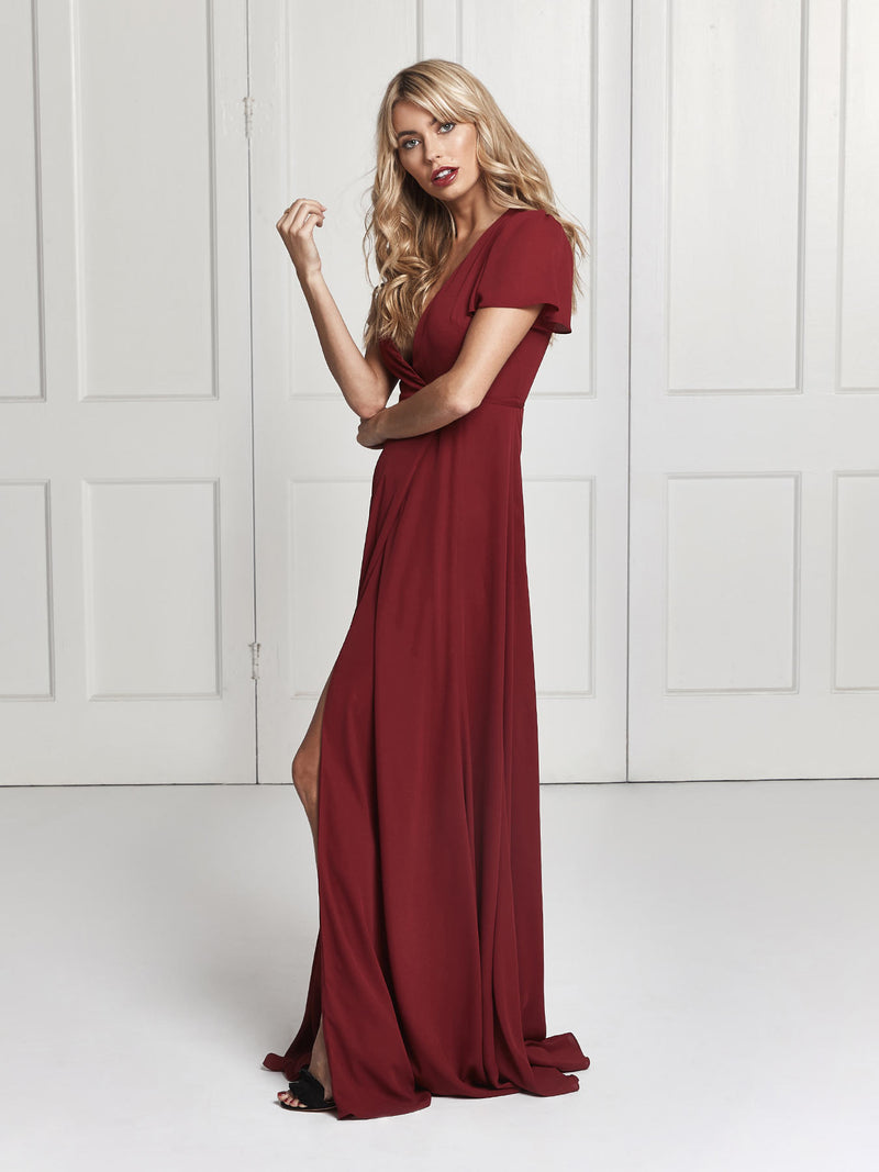 Jeanne dress - Deep red
