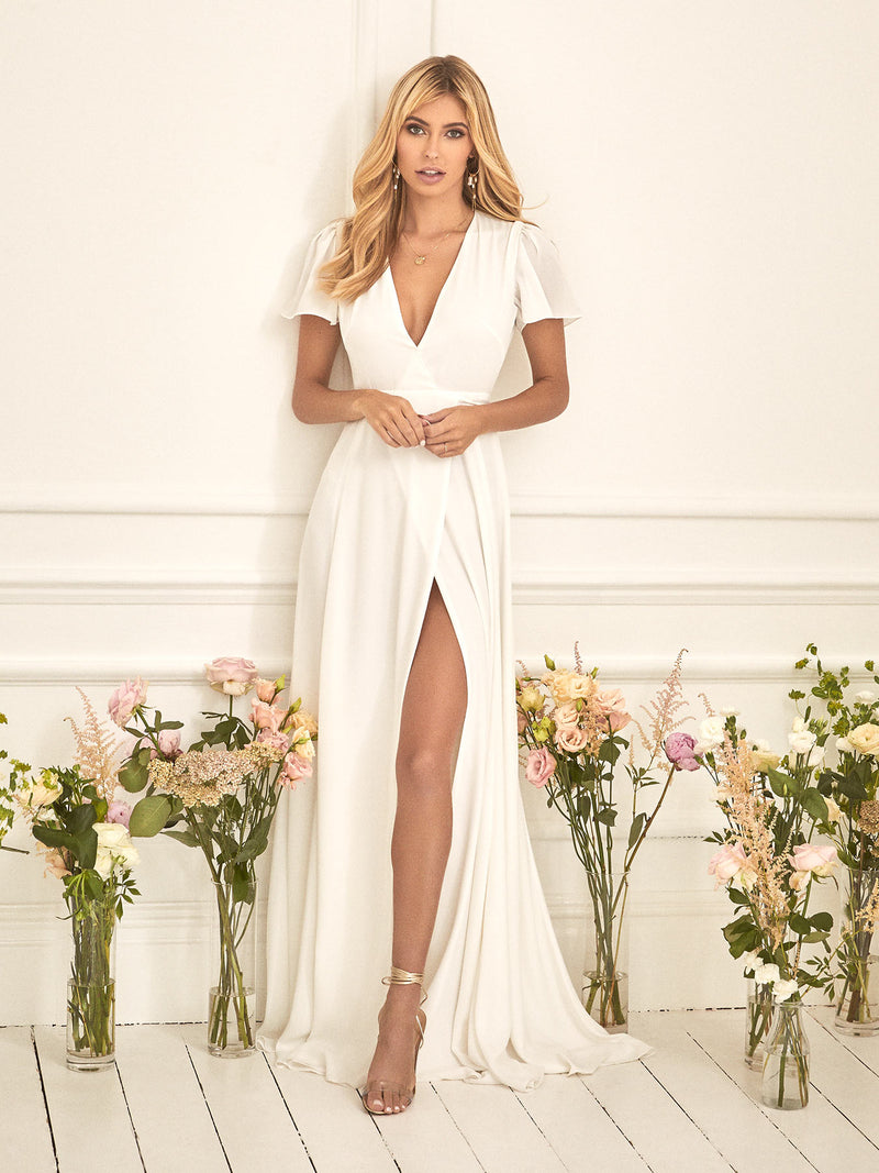 The white Jeanne wrap dress