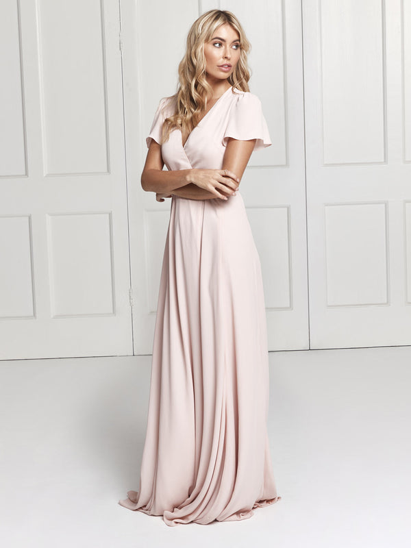 The Juliette blush pink bridesmaid from London designer brand Constellation Âme