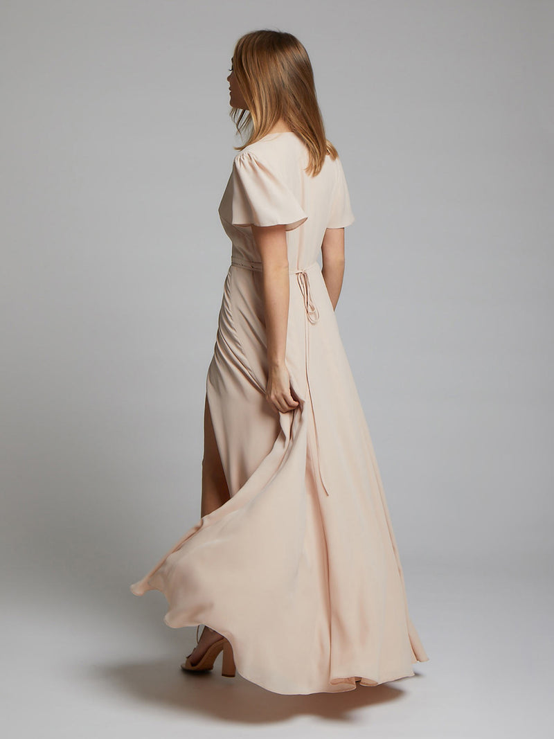 The Juliette nude bridesmaid dress