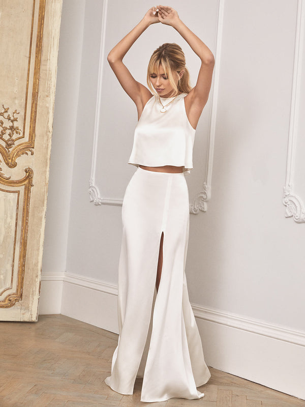 The Lena silk wedding dress