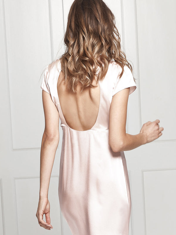 Mara blush silk dress