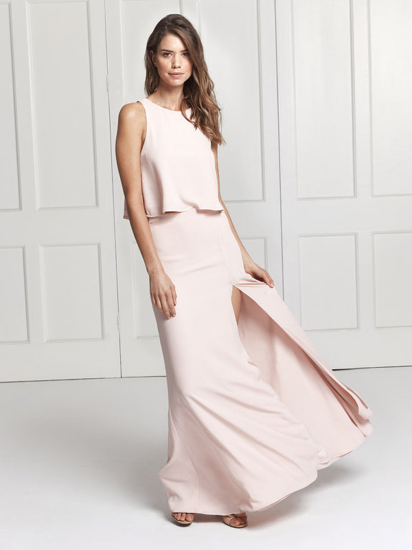 The Rosie skirt & top bridesmaid dress set in blush pink