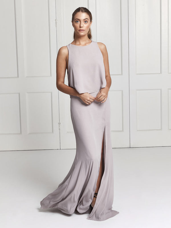 The Rosie skirt & top bridesmaid set in lilac grey
