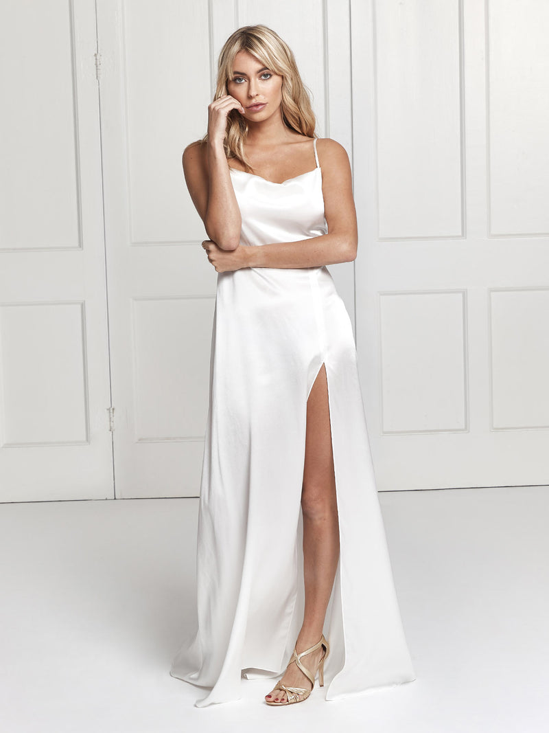 Salome silk wedding dress