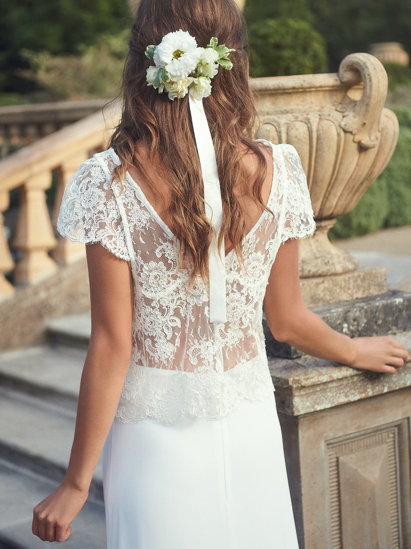 The Tilly lace skirt and top wedding dress set