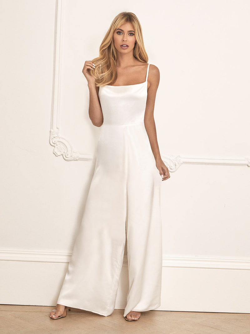 The Willow ivory wedding jumpsuit