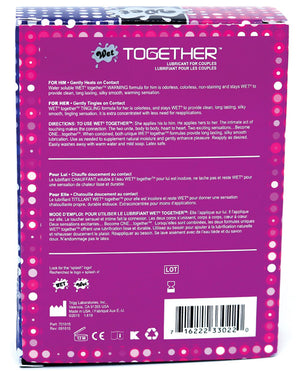 Wet Together Couples Lubricant - 2 Oz Bottles Box Of 2