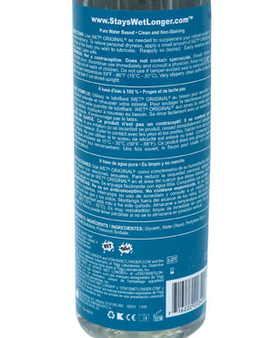 Wet Original Waterbased Gel Personal Lubricant - 18.6 Oz Pump Bottle