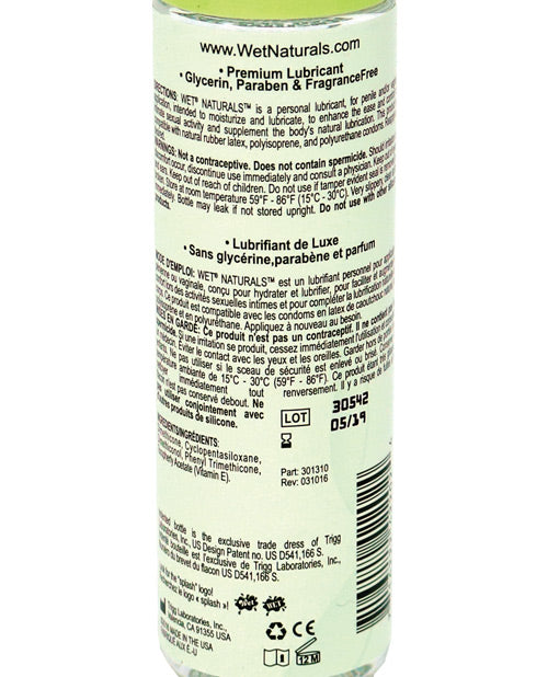 Wet Naturals Glycerin & Paraben Free Silicone Based Personal Lubricant - 3.1 Oz Silky Supreme