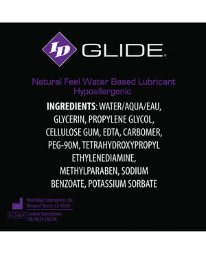 Id Glide Water Based Lubricant - 1 Oz Pocket Bottle