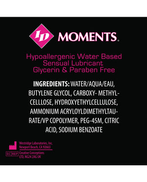 Id Moments Water Based - 4.4 Oz Bottle