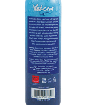Vulcan Wet Water Based Stroker Lube - 6 Oz