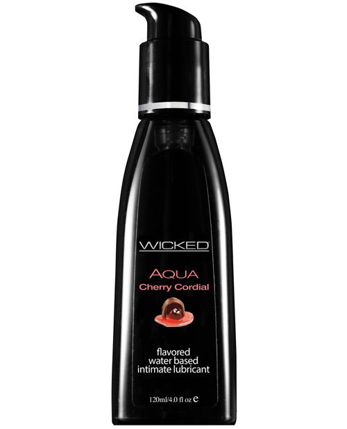 Wicked Sensual Care Aqua Waterbased Lubricant - 4 Oz Cherry Cordial