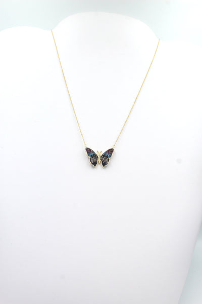 Clara Butterfly Necklace, Gold