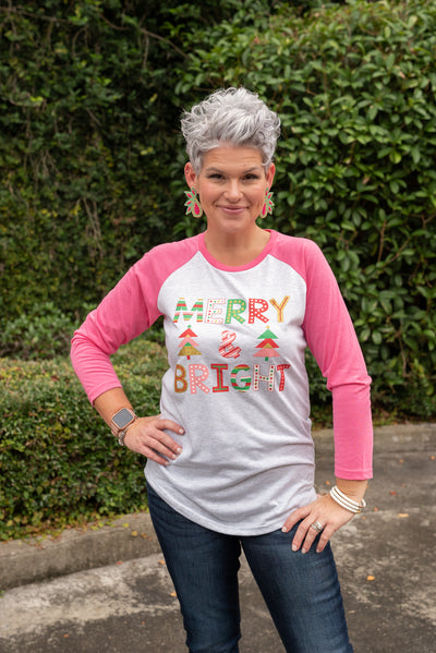 Merry And Bright 3/4 tee