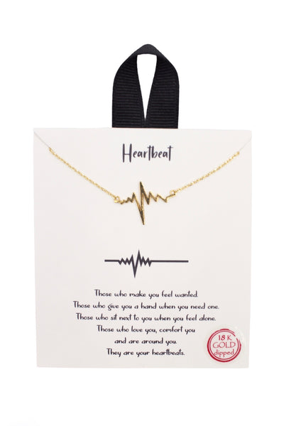 Heartbeat Story Necklace, Gold