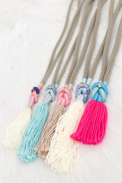 J Tassel Necklace