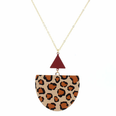 Triangle Leopard Necklace