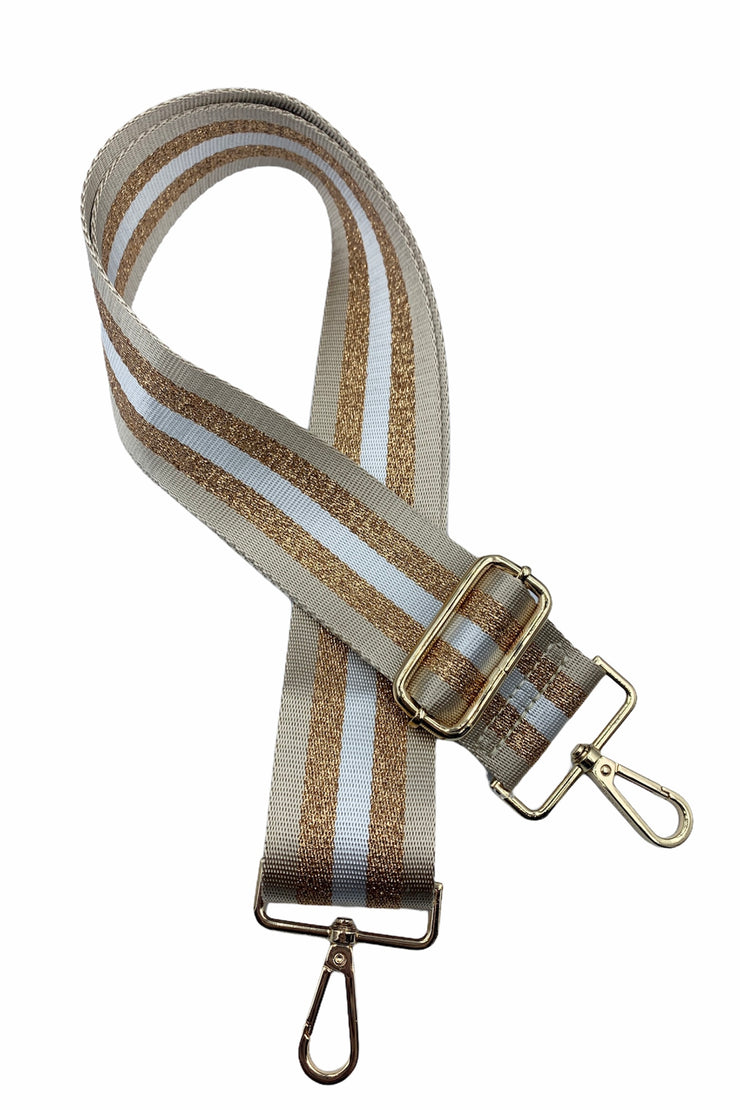 Adjustable Strap, Camel/Gold