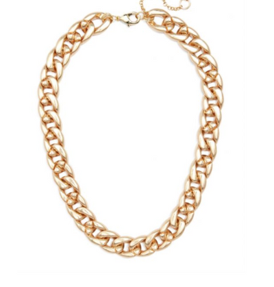 Linked Curb Chain Collar Necklace
