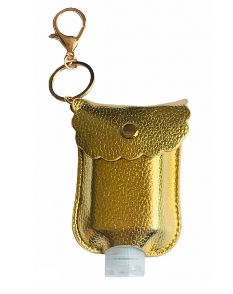 Hand Sanitizer Holder Gold
