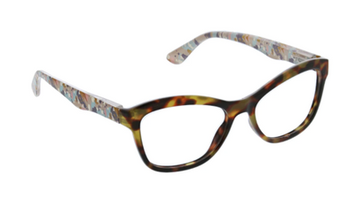 Brushwork- tortoise blue light eye glasses