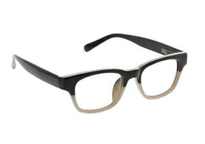 Layover- Black/tan blue light eye glasses