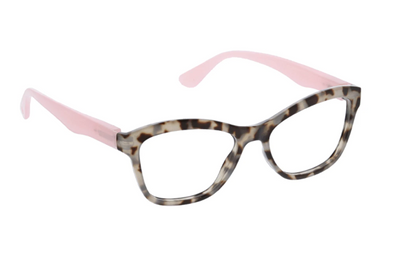 Pebble Cove Focus- gray tortoise /pink blue light eye glasses