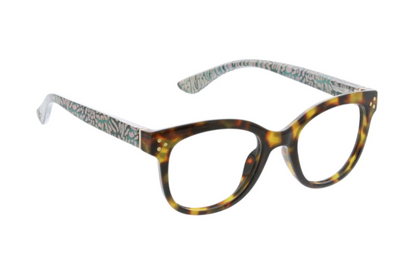 Jungle fusion tortoise/cheetah- blue light eye glasses