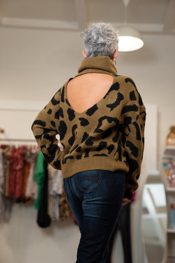Scoop Back Leopard