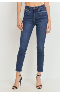 High rise skinny with distress