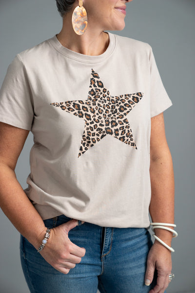 Star Graphic Tee, Stone