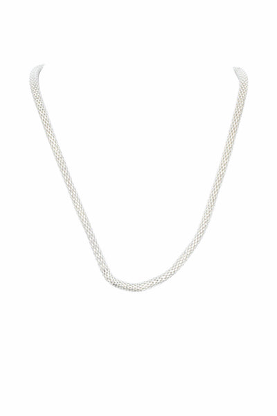 Halo Venetian Chain Silver Necklace