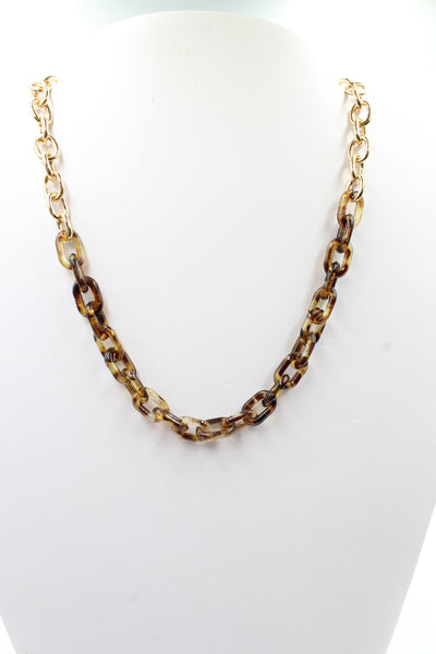 Half Acrylic Chain Brown
