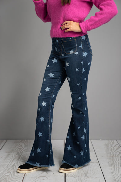 High rise Super Star Frayed Jeans