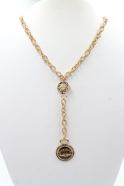 Romeo short necklace, gold