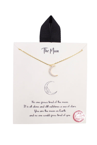 The Moon Story Necklace, Gold