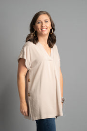 Tunic On Top, Tan