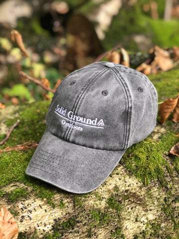 Rustic Logo Cap - Charcoal - Solid Ground Outdoors