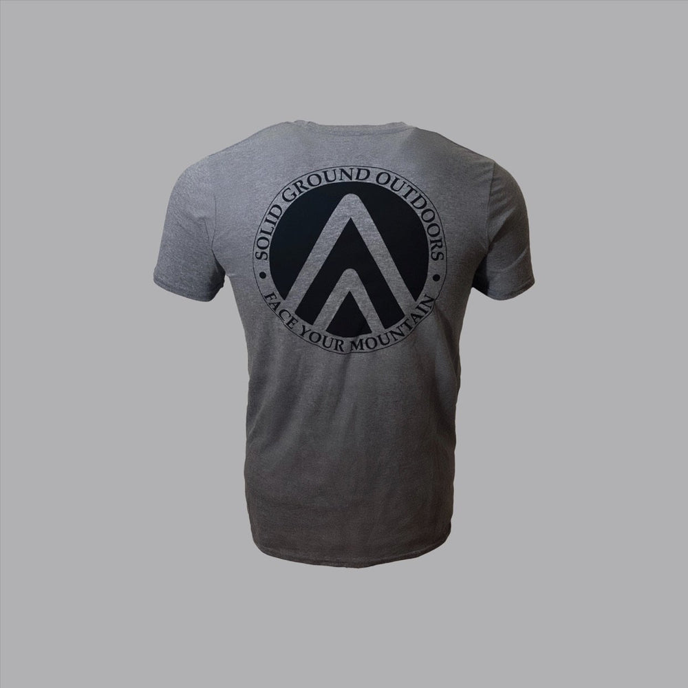 SGO Crest Tee - Grey - Solid Ground Outdoors