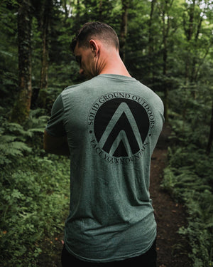 SGO Crest Tee - Olive - Solid Ground Outdoors
