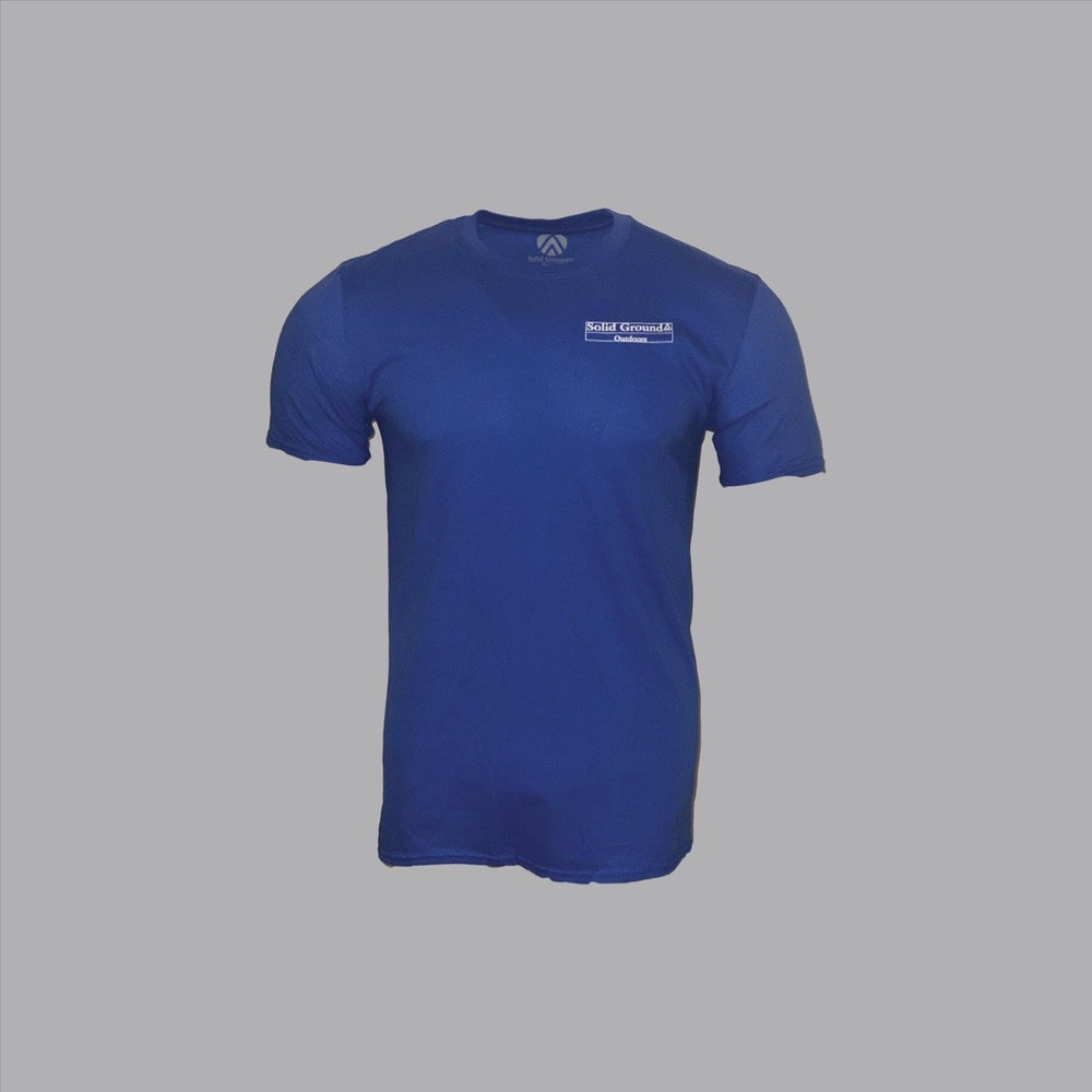 Load image into Gallery viewer, SGO Everest Tee - Royal Blue - Solid Ground Outdoors