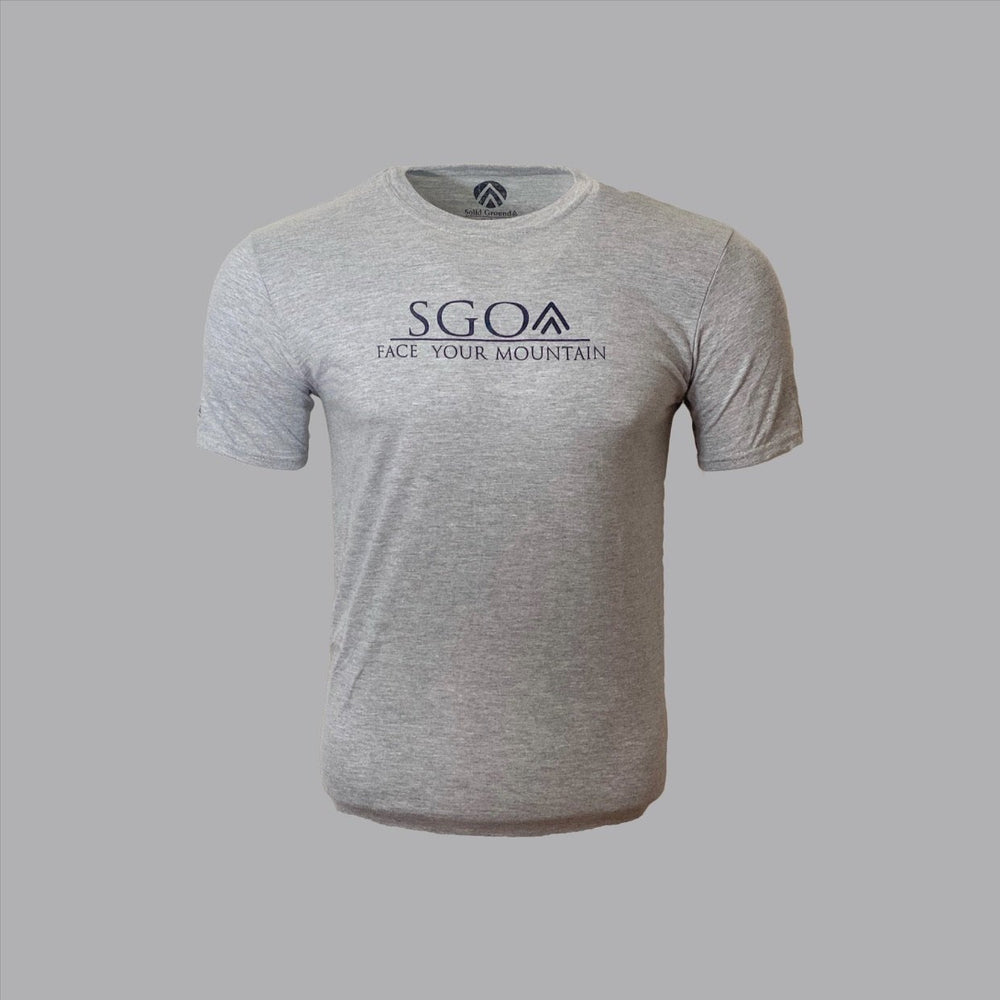 SGO Logo Tee - Grey - Solid Ground Outdoors